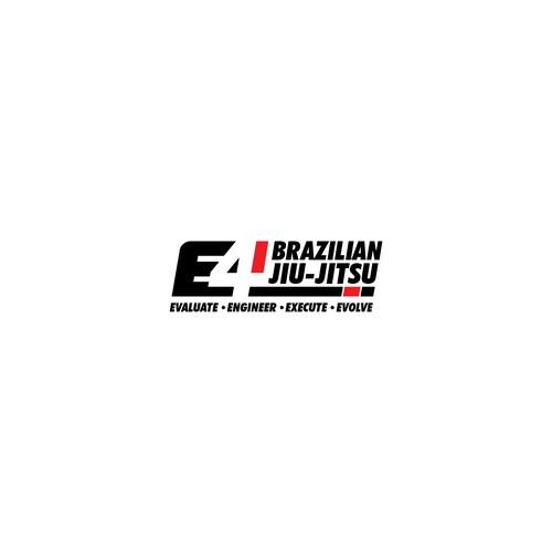 Jiu-jitsu design with the title 'sporty and simple logo for E4 Brazilian Jiu-Jitsu'