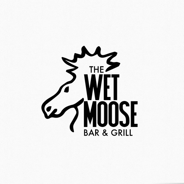 Bar and Grill logo with the title 'Logo concept for American bar & grill'