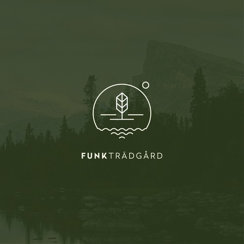 Recycling logo with the title 'FUNK TRÄDGÅRD Gardening Business '