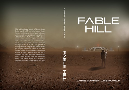"""Desert design with the title 'Create a """"captivating"""" science fiction book cover. Guaranteed payment. Daily feedback and ratings.'"""