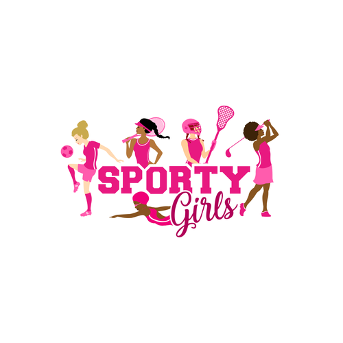 Golf course logo with the title 'Sporty Girls Logo'