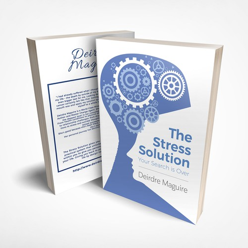 Stress design with the title 'Book Cover with Silhoutte'