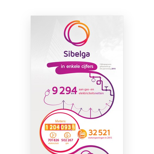 Gas design with the title 'Sibelga infographic '