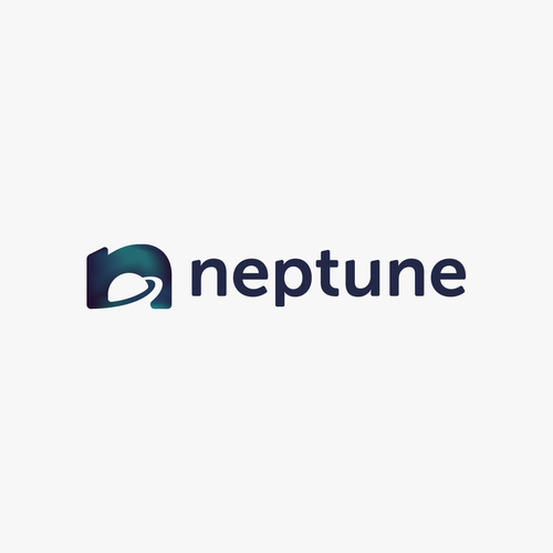 N logo with the title 'Logo design for Neptune.'