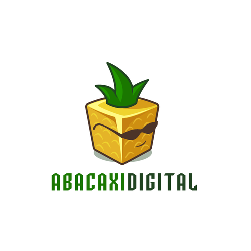 Sunglasses logo with the title 'Digital Pineapple'