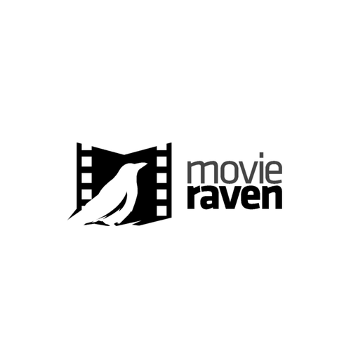 Raven logo with the title 'movie raven'