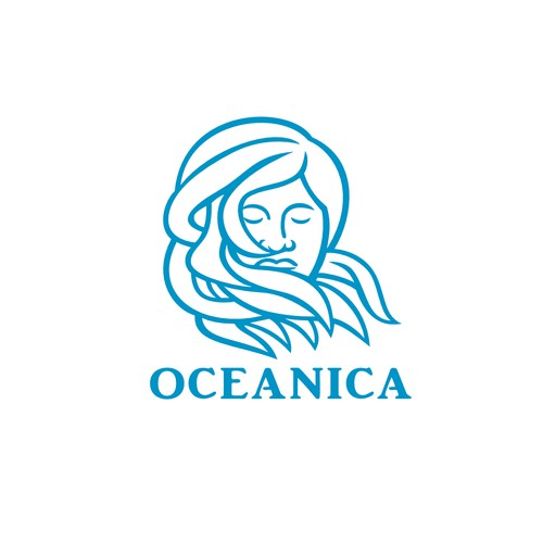 Goddess logo with the title 'Oceanica Skincare'