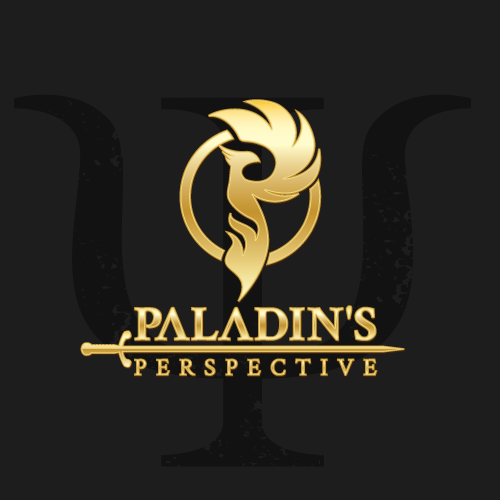 Phoenix logo with the title 'paladin`s perspective logo design'