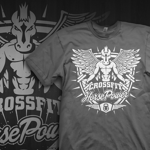 Wings t-shirt with the title 'HorsePower'