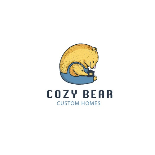 Cozy design with the title 'logo for Cozy bear'