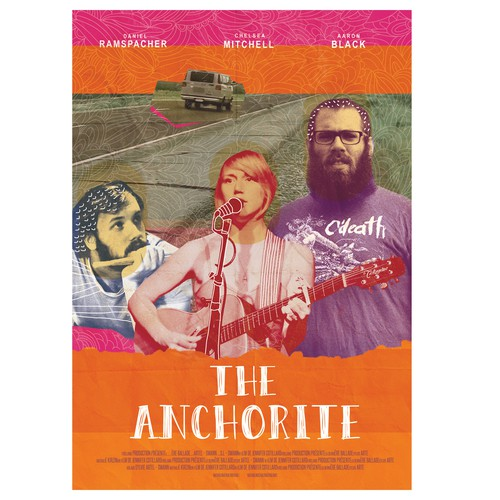 "Movie poster illustration with the title '""The Anchorite"" movie poster! '"