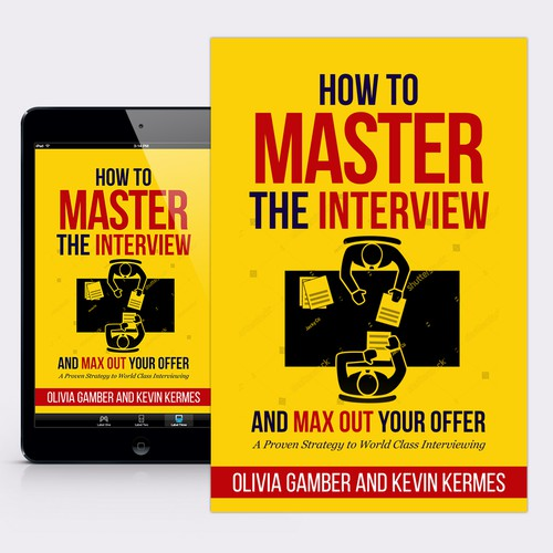 "Education book cover with the title 'Book Cover for ""How to Master the Interview"" by Olivia Gamber'"