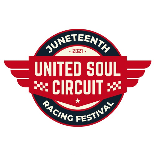 Wing design with the title 'United Soul Circuit Juneteenth Racing Festival'