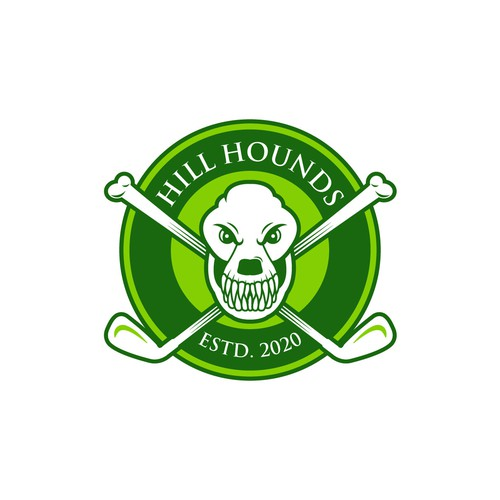 Skull logo with the title 'Logo for exclusive golf society'