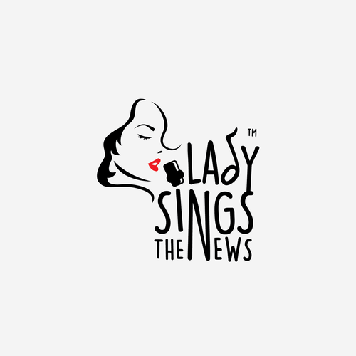 News design with the title 'Lady Sings the News logo'