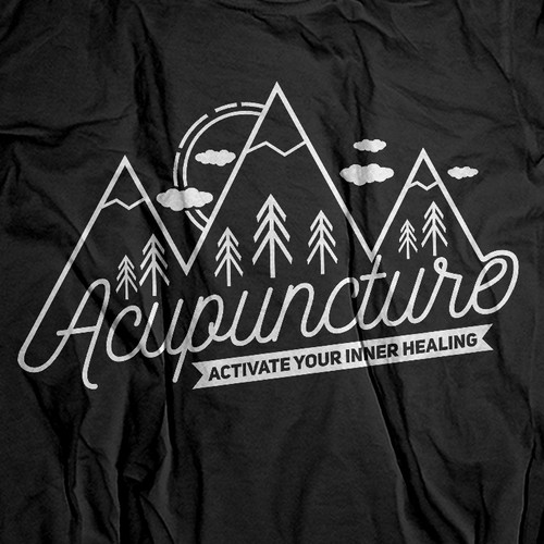 Travel t-shirt with the title 'Acupuncture'