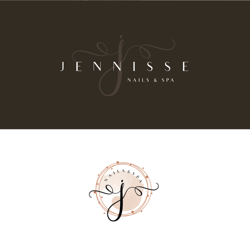 Simple font logo with the title 'Nail & Spa logo'