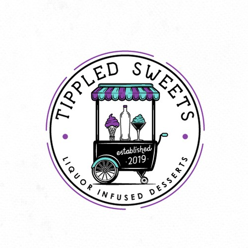 Sweet logo with the title 'Logo for Tipple Sweets Food Truck'