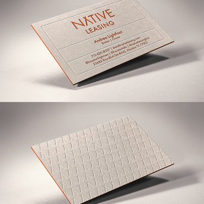 B Card Design For Native Leasing
