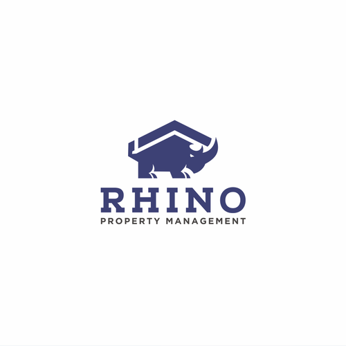 Rhino design with the title 'Rhino Property Management'