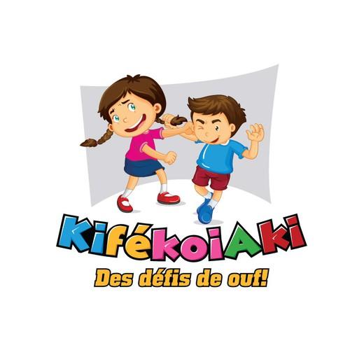 Naughty design with the title 'KifékoiAki - Des défis de ouf !'