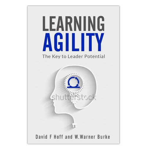 Leadership book cover with the title 'Book cover for a book about agility in business.'