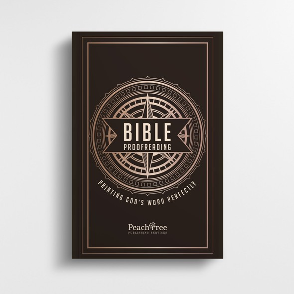 """Art Deco book cover with the title '""""Bible Proofreading"""" Book cover design'"""