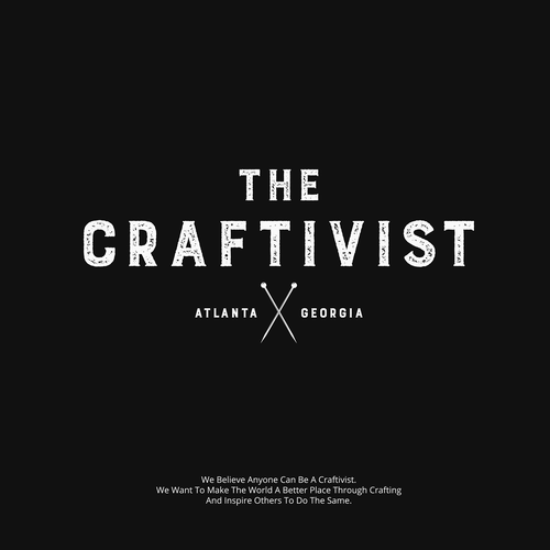 Knitting design with the title 'Craftivist'