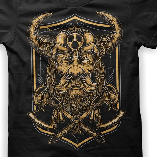 "Vector art t-shirt with the title 'Design T-shirt for the ""Viking Niche""'"