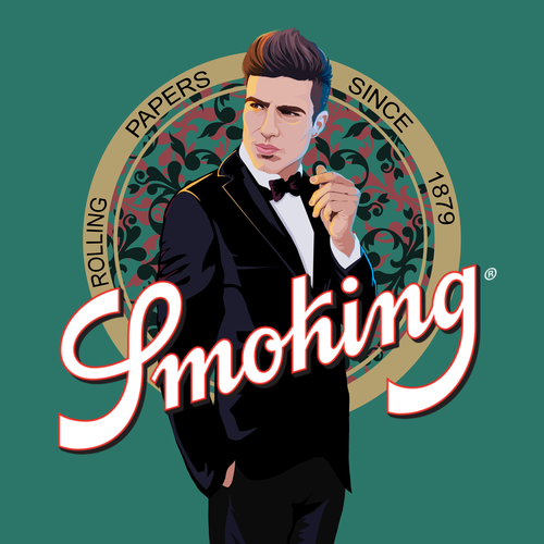 Smoke design with the title 'Mr. Smoking'