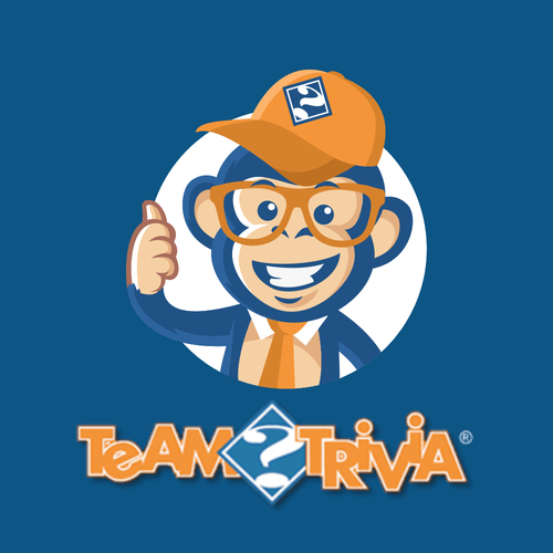Monkey design with the title 'Team Trivia'