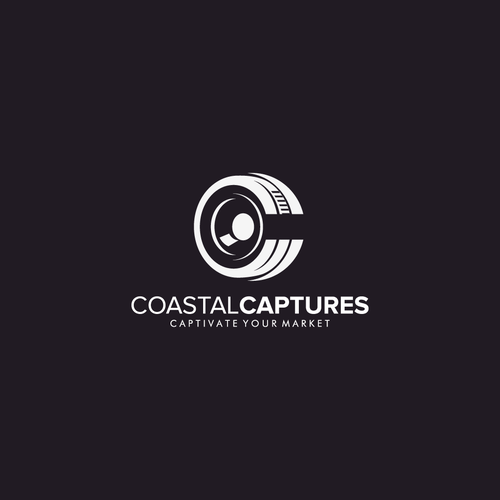 Black background logo with the title 'Coastal Captures'