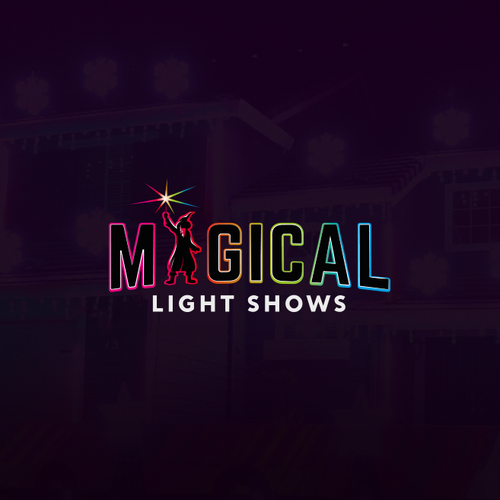 Laser design with the title 'Magical Light Shows'