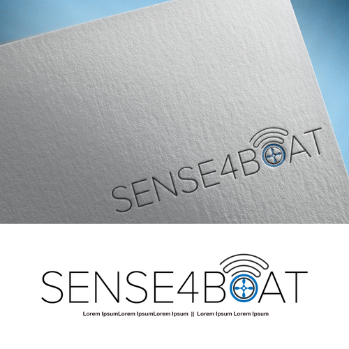 IoT logo with the title 'Safty Assured through IOT - SENSE4BOAT'