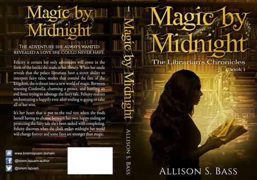 Mystic design with the title 'Young Adult Fantasy Book Cover'
