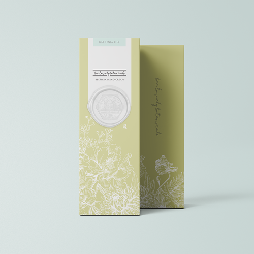 Contemporary packaging with the title 'modern vintage packaging'