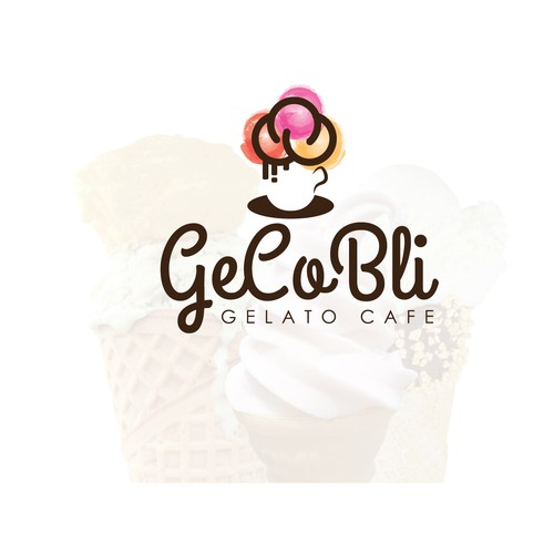 Gelato logo with the title 'Gelato cafe'