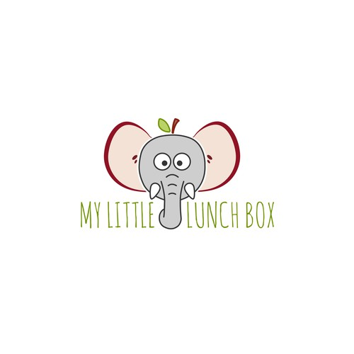 Lunch logo with the title 'Organic logo for a lunch box service'