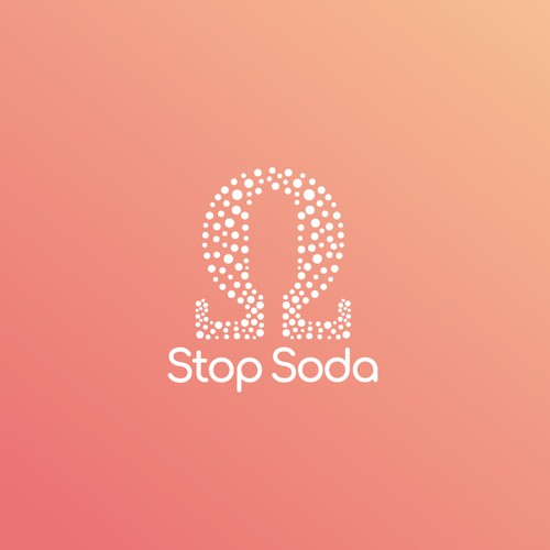 Soda design with the title 'Bubble logo for Stop Soda'