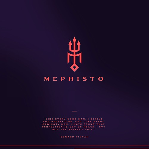 Fashion design with the title 'Mephisto Luxury Clothing'