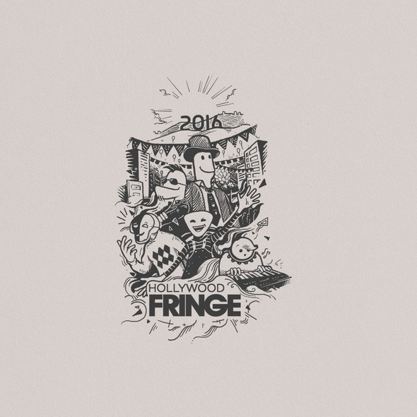 Festival t-shirt with the title 'T-shirt design for hollywood fringe'