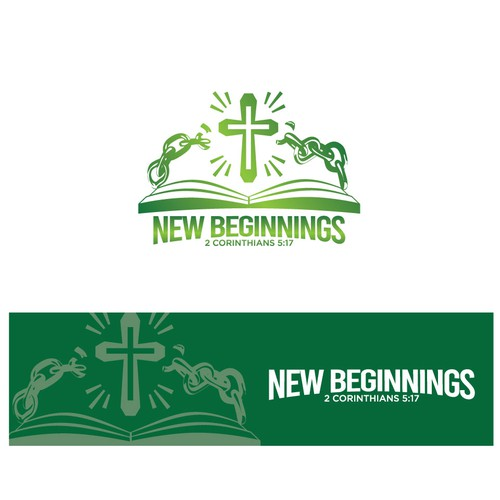 Bible logo with the title 'New Beginnings'