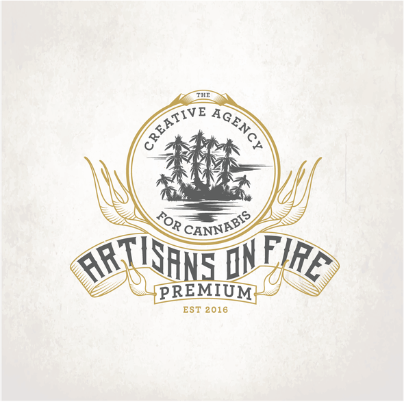 Flame logo with the title 'Artisans On Fire'