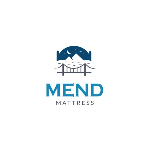 Bedding logo with the title 'Logo for a mattress brand'