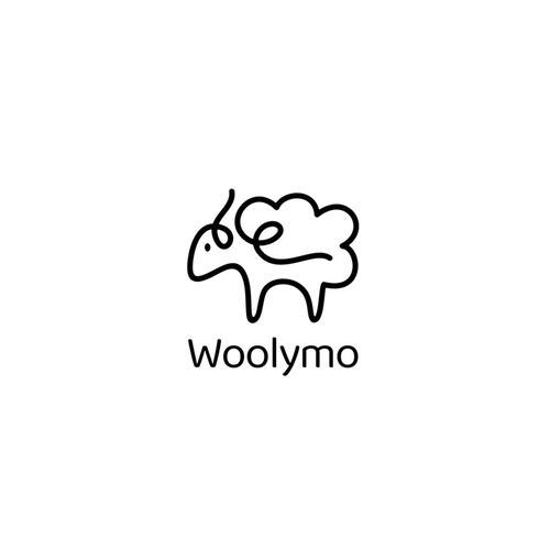 Sheep logo with the title 'woolymo logo'