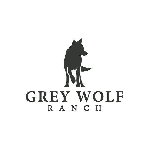 Dallas logo with the title 'Logo for Grey Wolf Ranch'