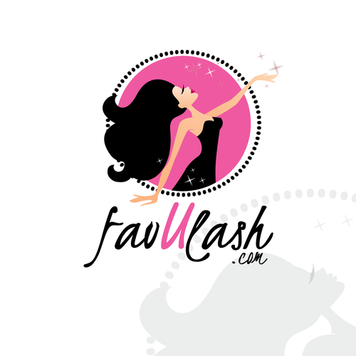 Eyelash design with the title 'New logo wanted for favUlash.com'