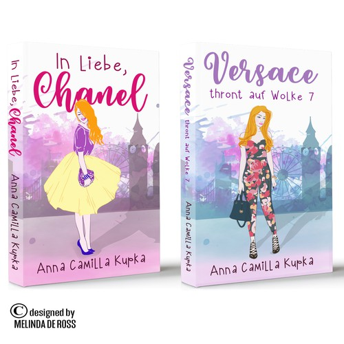 Chick lit book cover with the title 'Ann Kupka books'