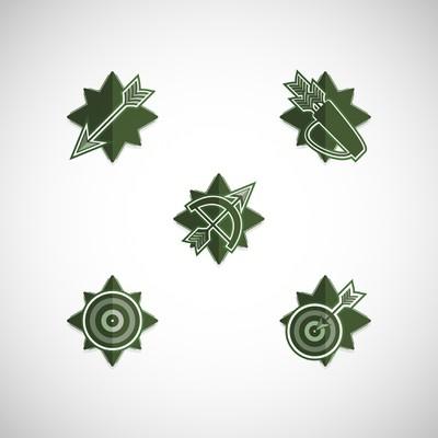 Green Arrow & Quiver Badge Design
