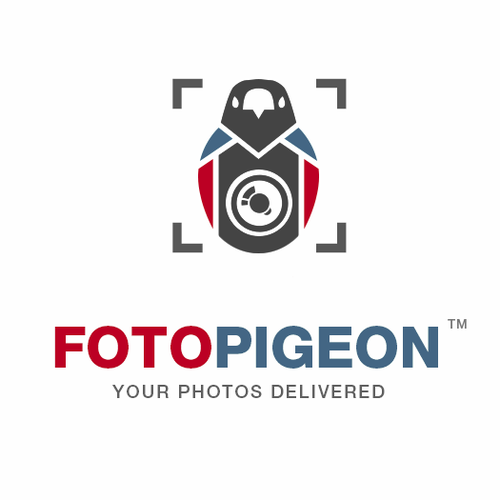 Pigeon logo with the title 'Fotopigeon'